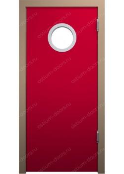 Дверь маятниковая остекленная (Balance 2)