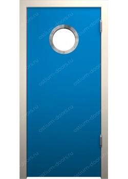 Дверь маятниковая остекленная (Balance 3)
