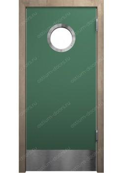 Дверь маятниковая остекленная (Balance 6)