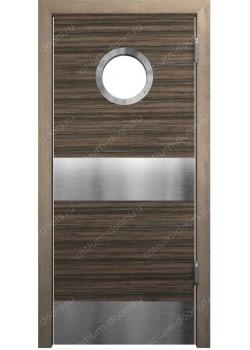 Дверь маятниковая остекленная (Balance 10)