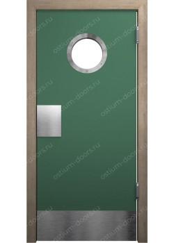 Дверь маятниковая остекленная (Balance 18)