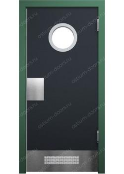 Дверь маятниковая остекленная (Balance 16)