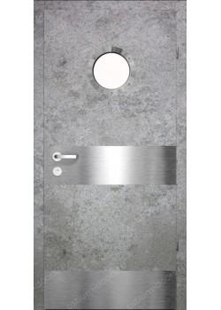 Дверь распашная остекленная дизайнерская (PortDesign 2)