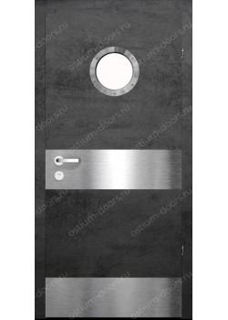 Дверь распашная остекленная дизайнерская (PortDesign 6)
