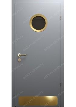 Дверь распашная остекленная дизайнерская (PortDesign 8)