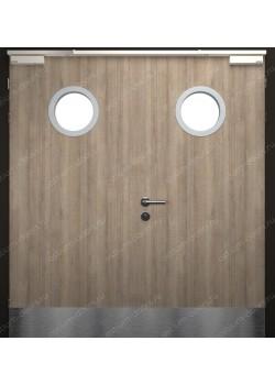 Дверь двустворчатая остекленная огнестойкая (Guard 60DUO2-5)
