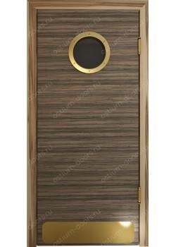 Дверь маятниковая остекленная дизайнерская (BalanceDesign 1)