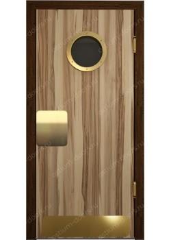 Дверь маятниковая остекленная дизайнерская (BalanceDesign 3)