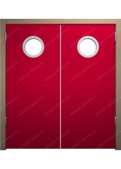 Дверь маятниковая остекленная двустворчатая (BalanceDUO2-1)