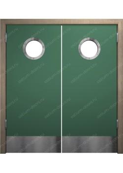 Дверь маятниковая остекленная двустворчатая (BalanceDUO2-6)