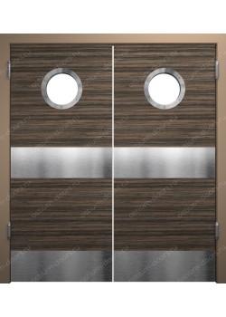 Дверь маятниковая остекленная двустворчатая (BalanceDUO2-10)