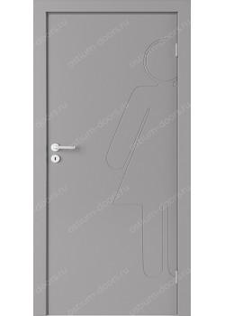 Дверь распашная глухая с фрезеровкой (Line 1)