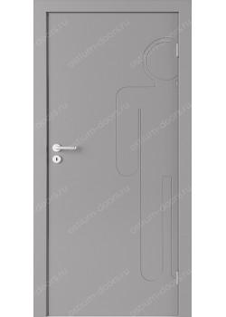 Дверь распашная глухая с фрезеровкой (Line 2)