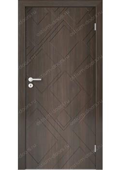 Дверь распашная глухая с фрезеровкой (Line 6)
