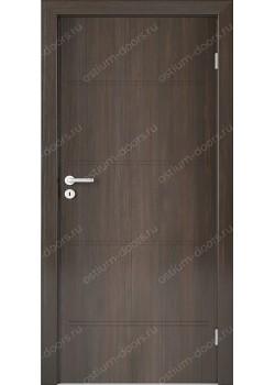 Дверь распашная глухая с фрезеровкой (Line 7)