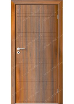 Дверь распашная глухая с фрезеровкой (Line 11)