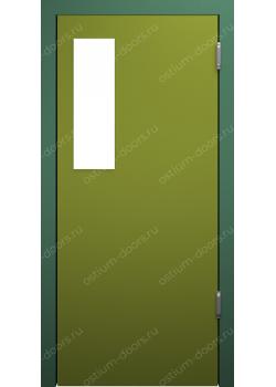 Дверь маятниковая остекленная (Balance 4)