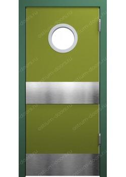 Дверь маятниковая остекленная (Balance 9)