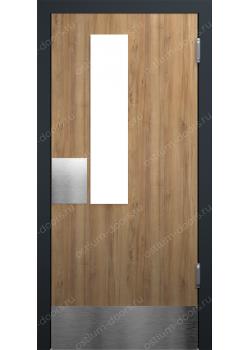 Дверь маятниковая остекленная (Balance 15)