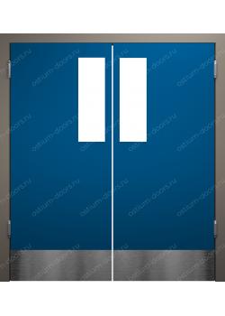 Дверь маятниковая остекленная двустворчатая (BalanceDUO2-8)