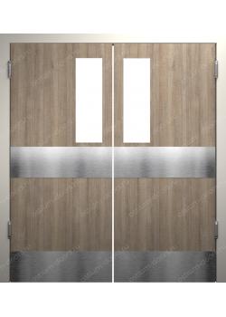 Дверь маятниковая остекленная двустворчатая (BalanceDUO2-12)