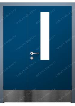 Дверь распашная остекленная полуторная (BandDUO1-15)