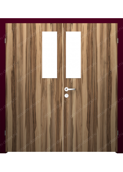 Дверь распашная остекленная двустворчатая (BenefitDUO2-4)