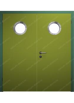 Дверь распашная остекленная двустворчатая (BenefitDUO2-7)