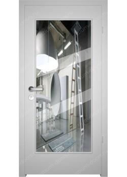 Дверь распашная глухая с зеркалом (Classic 7)