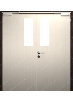 Дверь глухая остекленная двустворчатая огнестойкая (StillEI30DUO2-2)