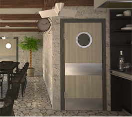 Двери для ресторана на кухню